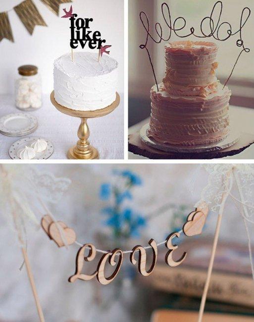 Надпись для декора верха торта