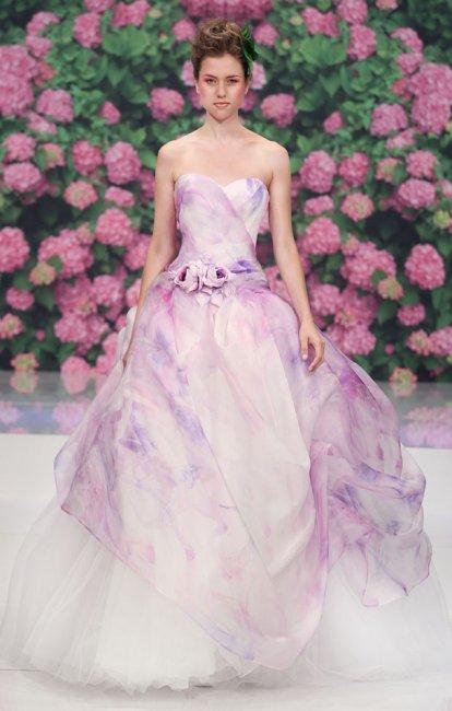 Платье для сиреневой свадьбы