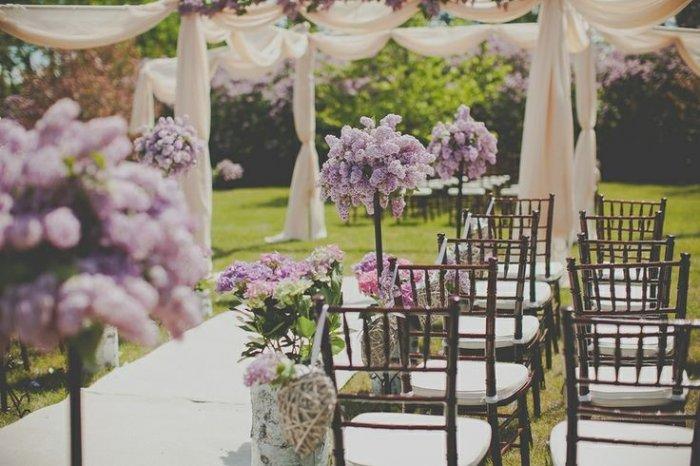 Оформление свадьбы в сиреневом цвете