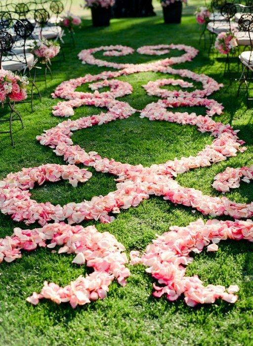 Дорожки украшенные цветами