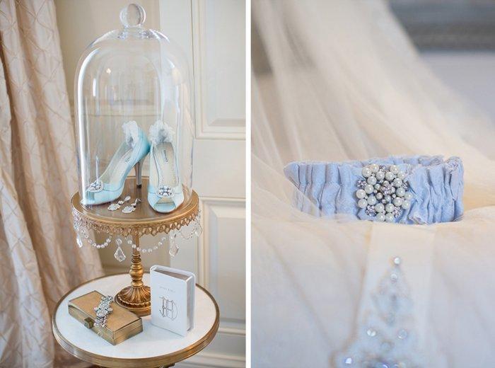 Аксессуары для свадьбы в небесно-голубом цвете