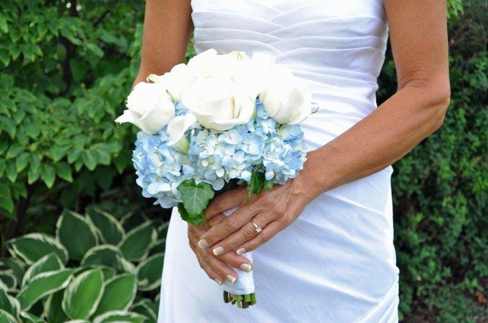 Цветы для свадьбы в небесно-голубом цвете