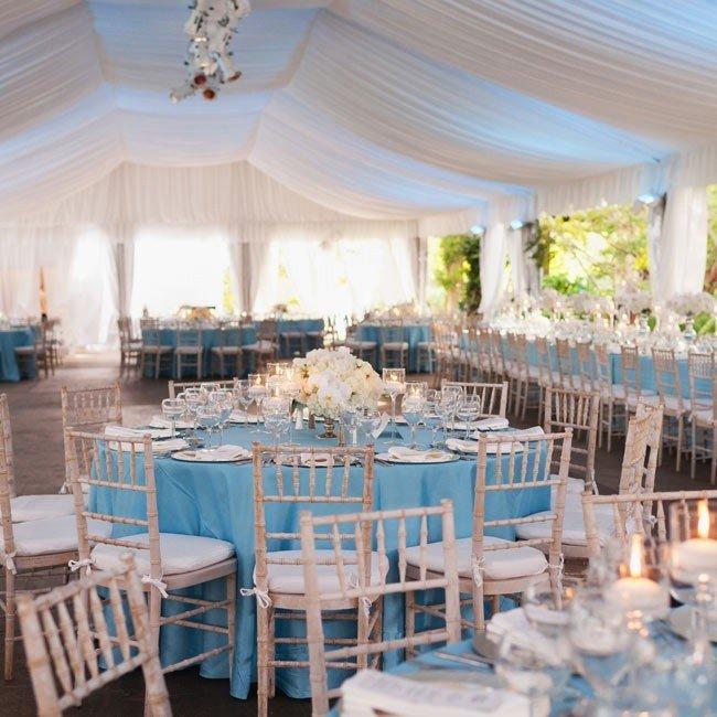 Оформление свадьбы в небесно-голубом цвете