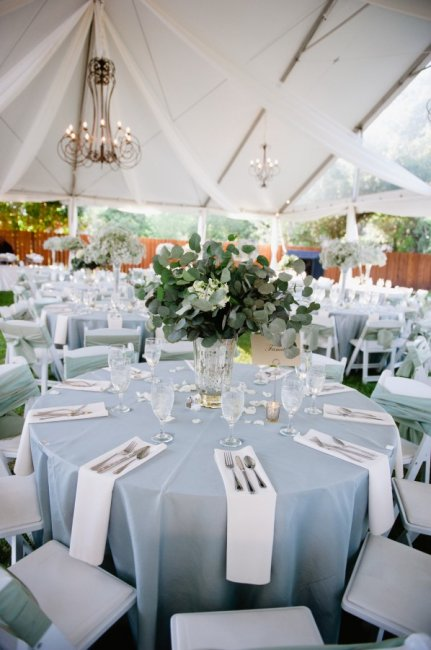 Украшение свадьбы в небесно-голубом цвете