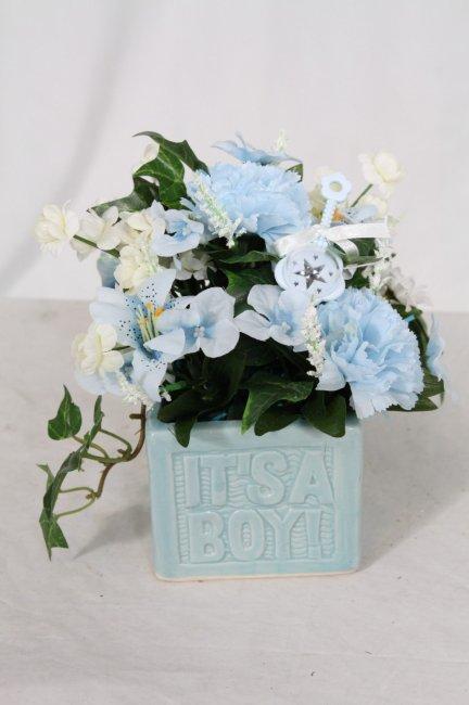Цветочные композиции для свадьбы в небесно-голубом цвете