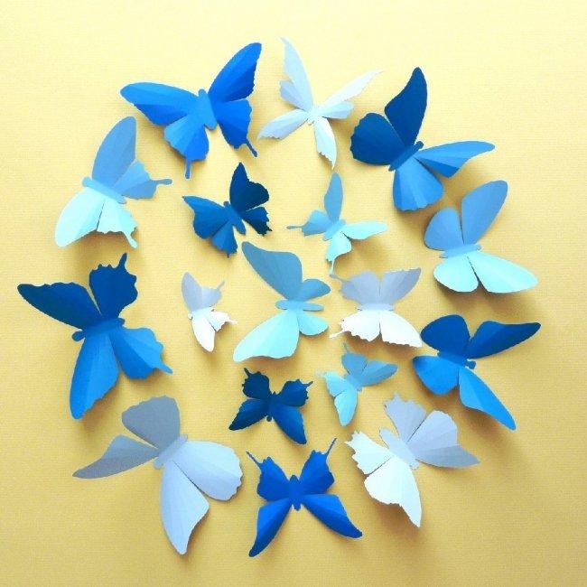 Бабочки для свадьбы в небесно-голубом цвете