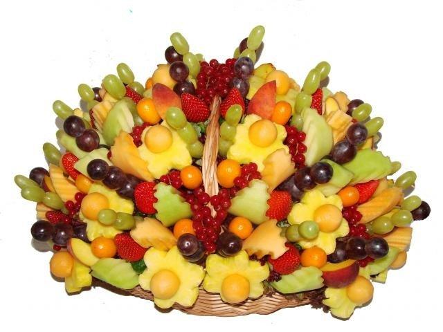 Поздравление фруктовый букет