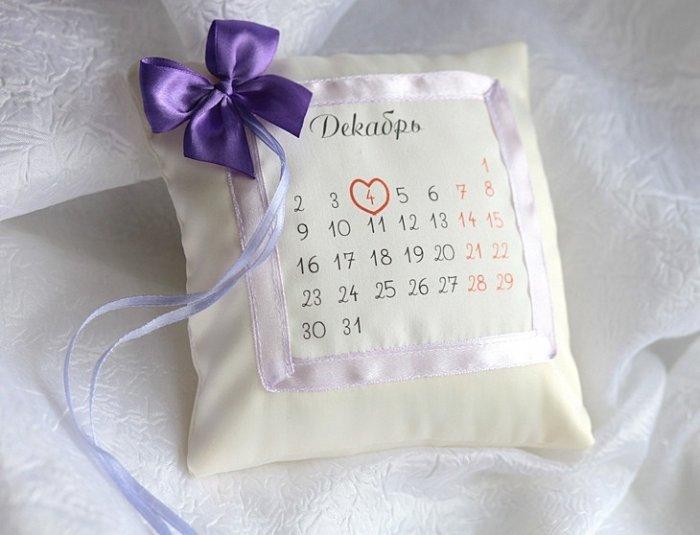 Как сделать календарь из свадебных