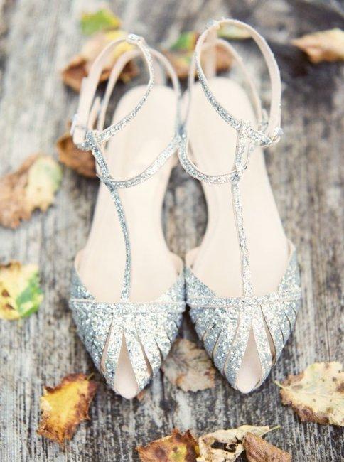 Серебряные туфли невесты