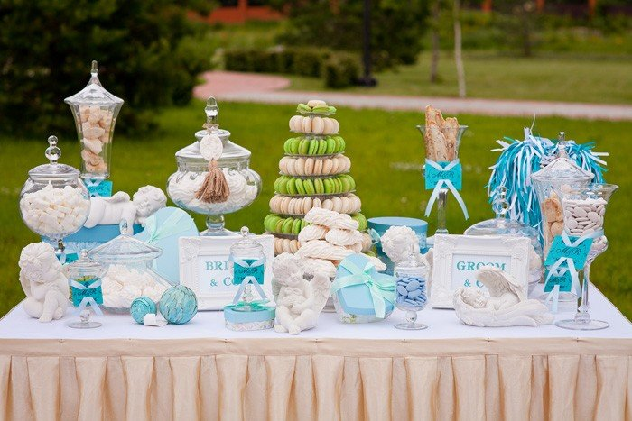 Кенди бар свадьба своими руками голубые тона 72