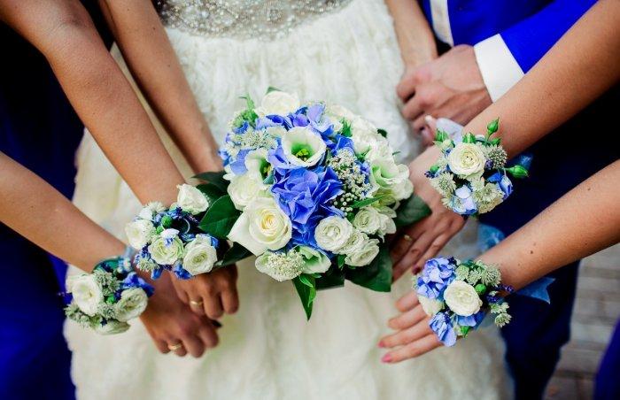 Браслеты для синей свадьбы