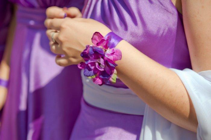 Браслет для лиловой свадьбы
