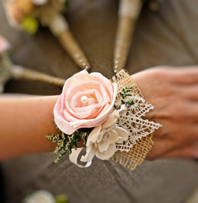 Стильный браслет для свадьбы в стиле рустик