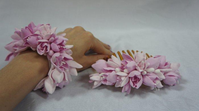 Стильные свадебные украшения с искусственными цветами