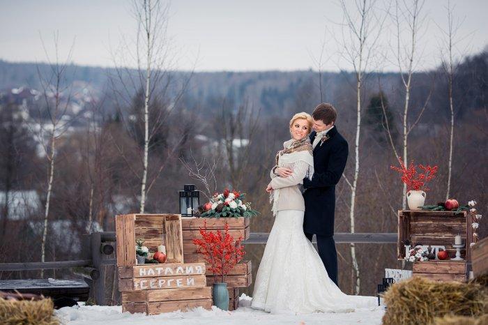 Стильная свадьба зимой