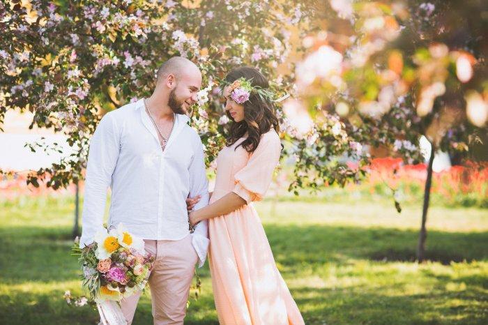 Лёгкая свадьбы весной