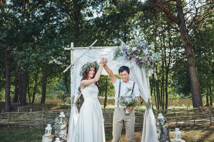 Нежная летняя свадьба
