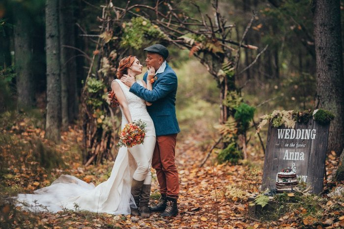 Стильная осенняя свадьба