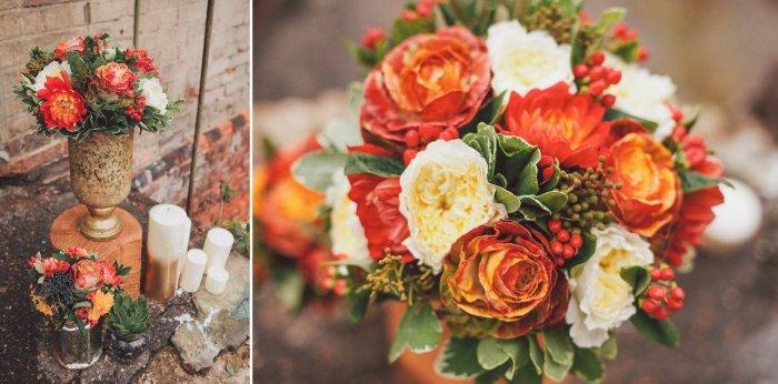 Букет невесты из осенних цветов