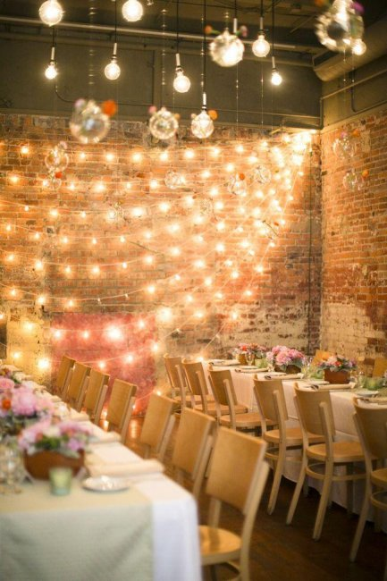 Освещение свадьбы в стиле лофт