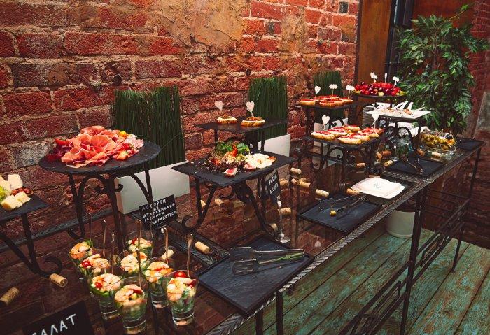 Свадебный бар в стиле лофт