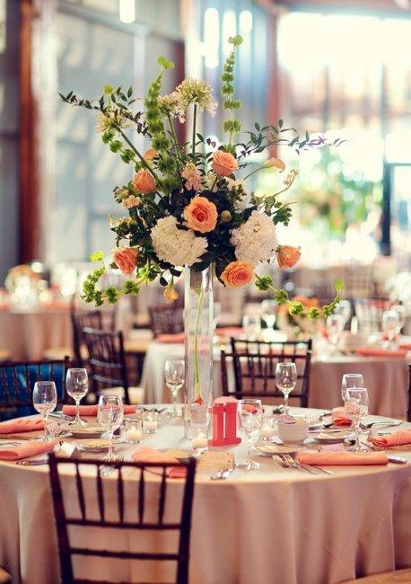 Декор персиковой свадьбы