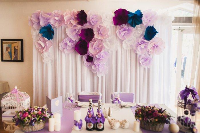 Идеи для украшения зала для свадьбы своими руками