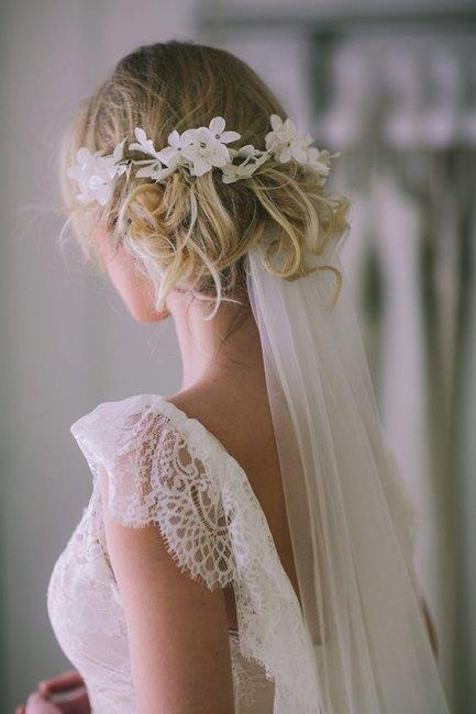 красивые свадебные прически с длинной фатой