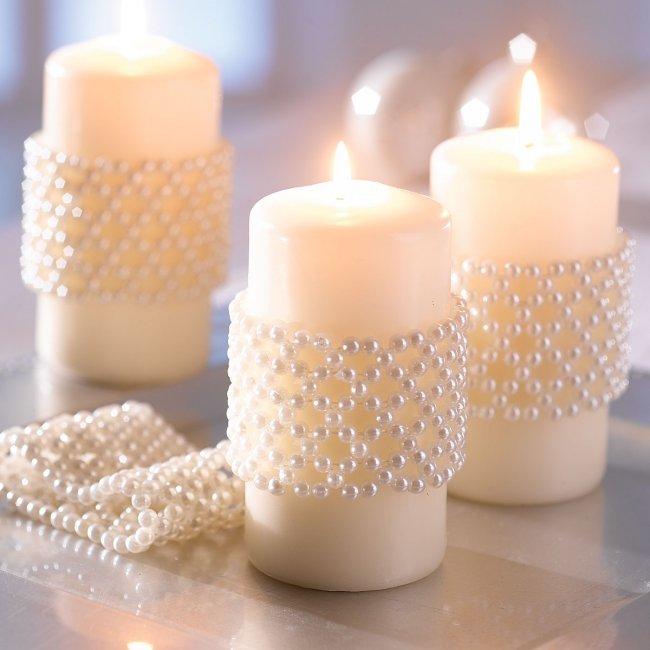 Украшаем свечи своими руками фото 792
