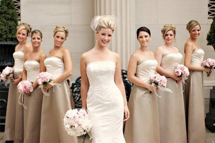 Прически свидетельница на свадьбе средняя длина6