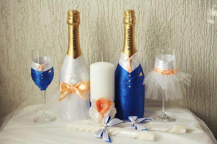 Фужеры и шампанское на свадьбу своими руками фото 69