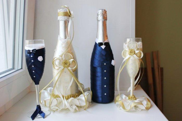 Шампанское свадебное мастер класс своими руками