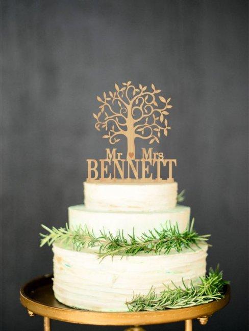 Торт с семейным деревом