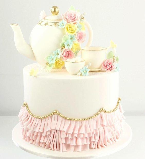 Торт для фаянсовой свадьбы