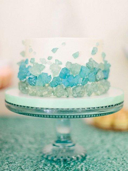 Торт на стеклянную свадьбу