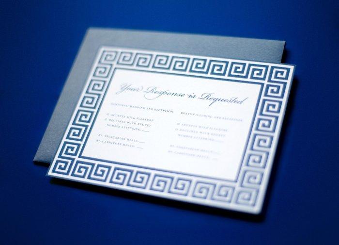 Свадебное приглашение в греческом стиле