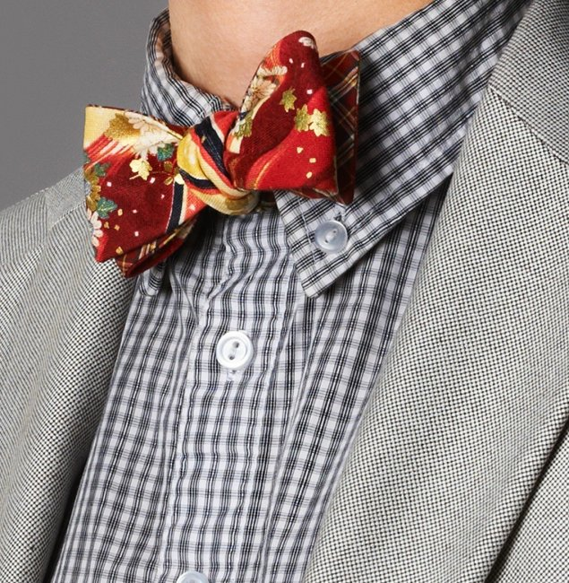 Изготовление галстука-бабочки