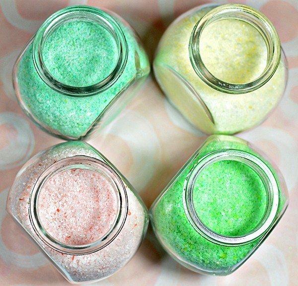 Ароматизированная соль для ванны своими руками