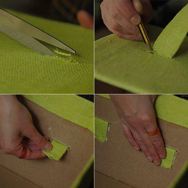 Коробочка в ткани своими руками