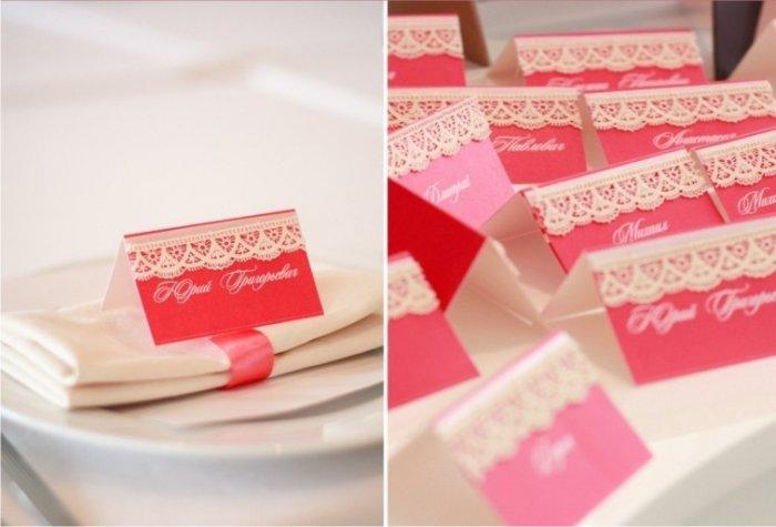 Как сделать карточки для гостей на стол 264