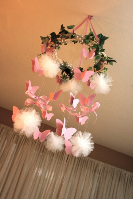 Украшение бабочками на новый год