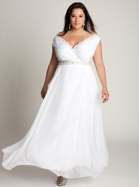 Свадебное платье на толстых
