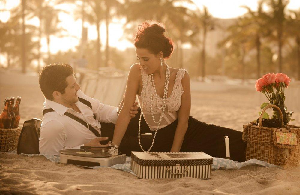 Ретро-фотосессия на пляже