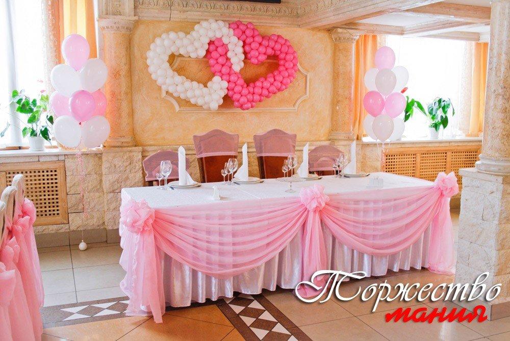 Украшение тканью свадебного стола своими руками