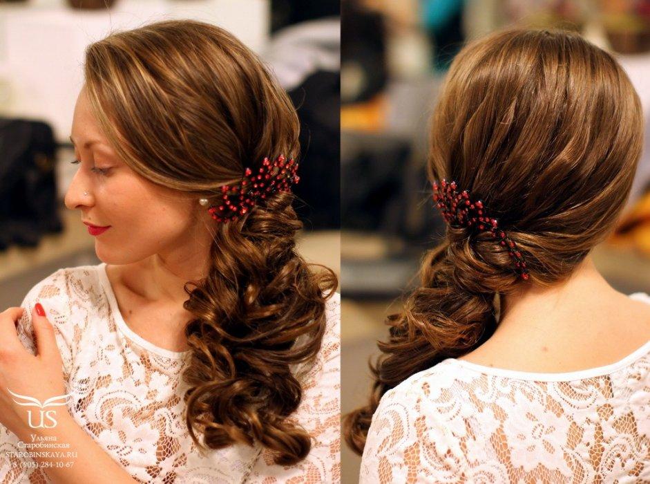 Вечерние прически на средние волосы своими руками из локонов
