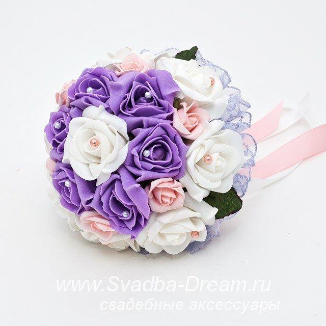 Букет дублер невесты из искусственных цветов своими руками