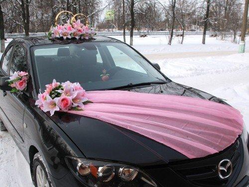 Украшение на машину кольца своими руками на свадьбу