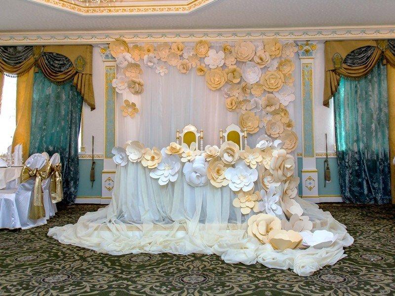 Украшение зала а свадьбу