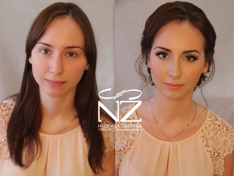 Свадебный макияж для карих глаз шатенки