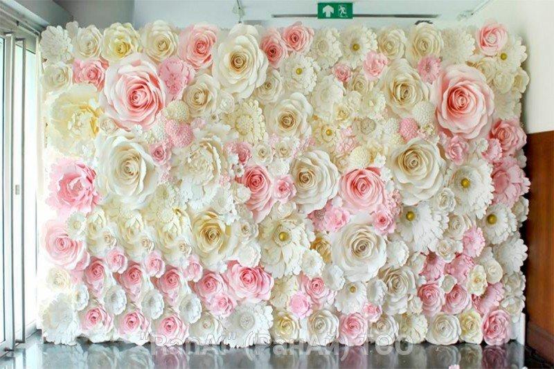 Фон из цветов на свадьбу своими руками 27